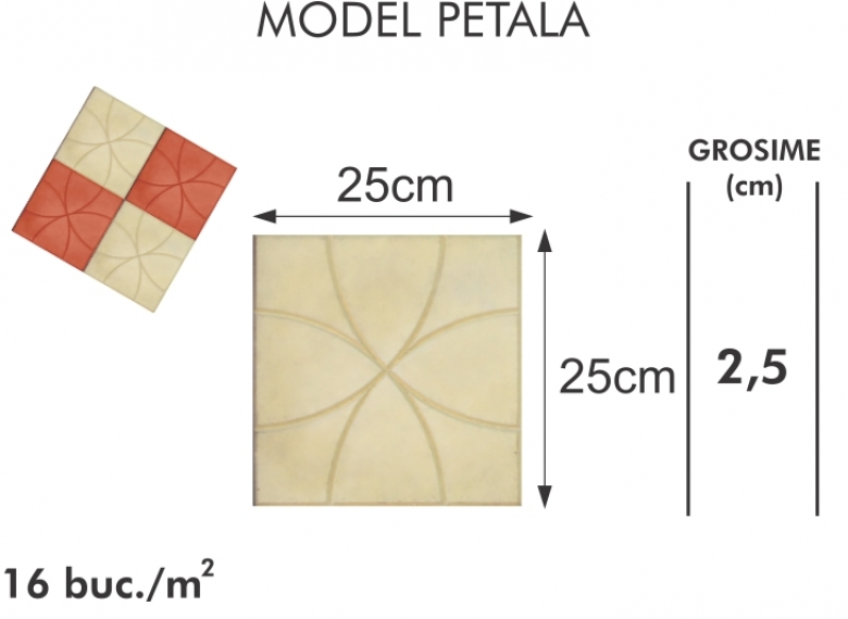 Pavaj vibropresat 003 - Model petala
