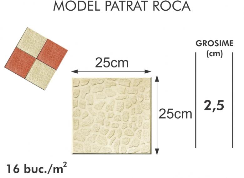 Pavaj vibropresat 002 - Model patrat roca